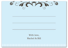 WIR-1017 - wedding thank you and response card