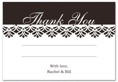 WIR-1019 - wedding thank you and response card