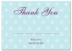 WIR-1031 - wedding thank you and response card