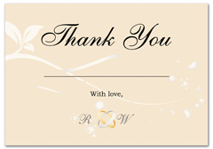 WIR-1040 - wedding thank you and response card