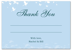 WIR-1046 - wedding thank you and response card