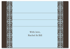 WIR-1086 - wedding thank you and response card