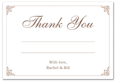 WIR-1088 - wedding thank you and response card