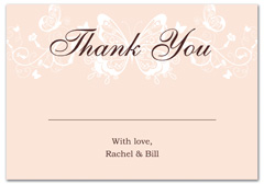 WIR-1100 - wedding thank you and response card