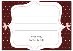 WIR-1107 - wedding thank you and response card