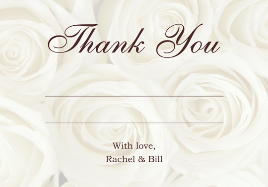 Download Printable Sample Wedding Thank You And Response Card