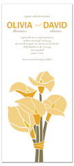 Lily Flower Theme Blank Wedding Invitation