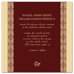 Modern Indian Hindu Design Blank Wedding Invitation
