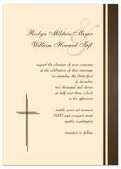 Spiritual Christians Design Blank Wedding Invitation