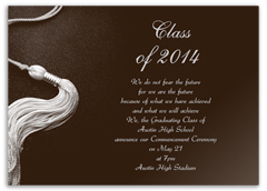 School Stationery Graduation Announcement Design