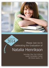 Cap And Gown Design Graduation Announcement Sample