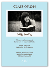 Baby Blue Photo Graduation Invite