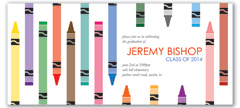 Crayons Color Elementary Children Graduation Invite