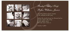 Brown Custom Photos Microsoft Word Wedding Invitation