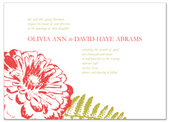 Red White Flower Design Microsoft Word Wedding Invitation