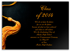 Black Golden Color Personalized Graduation Invitation