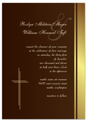 Nuptial Mass Catholic Personalized Wedding Invitation