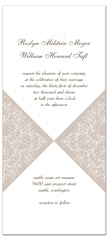White Brown Vertical Portrait Personalized Wedding Invitation