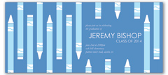 Boy Blue Crayon Printable Graduation Announcement
