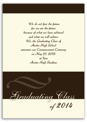 High School College Printable Graduation Announcement