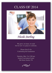 Nurses School Printable Graduation Announcement