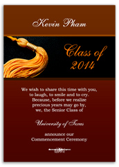 Red Gold Colleges Printable Graduation Announcement