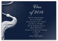 Blue Silver Printable Graduation Invitation