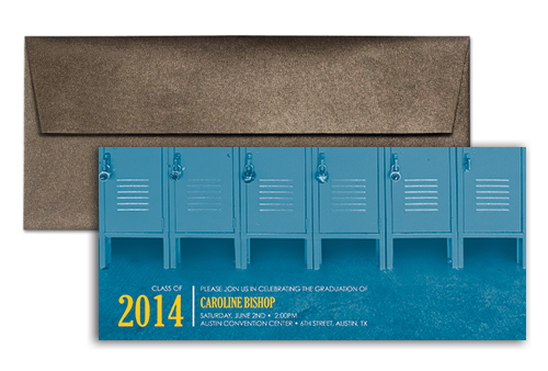 2014 High School Background Printable Graduation Invitation 9x4 in ...