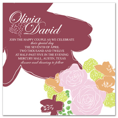 Lavender Flower Rose Printable Wedding Invitation