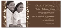 Modern Design Style Wedding Invitation Design