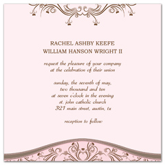 Winter Summer Fall Spring Wedding Invitation Design