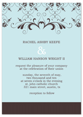 Blue Diy Layout Format Wedding Invitation Example