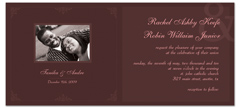 Customize Personalize Photo Wedding Invitation Example