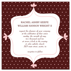 Red White Unique Design Wedding Invitation Example