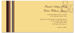 Long Horizontal Design Wedding Invitation Ideas