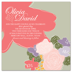 Colorful Roses Botanic Wedding Invitation Templates