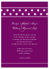 How To Create Polka Dots Wedding Invitation Templates