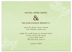 Simple Sage Light Color Wedding Invitation Templates